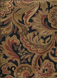montero night paisley print fabric dramatic black burgundy red