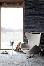 modern living room with the egg chair by fritz hansen for the