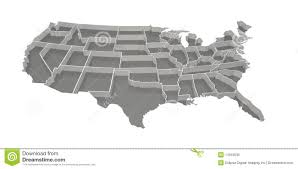 States Of United States Map by United States Map On Gray Stock Images Image 24896954