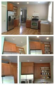 filling in that space above the kitchen cabinets spaces