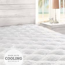 cooling mattress pad with fitted skirt eluxury
