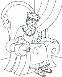 king david bible coloring page for kids to learn bible stories in