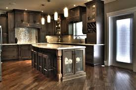Kitchen Cabinets Stain What Kind Of Wood Is Used And What Color Is The Stain Also Are