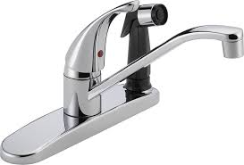 peerless p114lf classic single handle kitchen faucet chrome