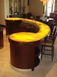 Elite Home Design Brooklyn Bar Counters For Home Tw Solid Surface Boat Shape Bar Counter