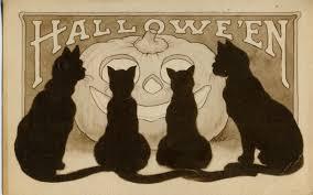 a nostalgic halloween vintage halloween postcard