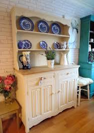 Preloved Chesterfield Sofa by Stunning Shabby Chic Pine Welsh Dresser Annie Sloan Original