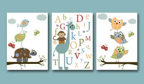 baby nursery wall art decorations for monkey baby nursery monkey giraffe owls birds abjad pictures for wall decals and art