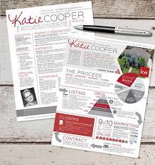 The Real Estate Resume  amp  Info Graphic Template Design Combo   Graphic Design   Marketing