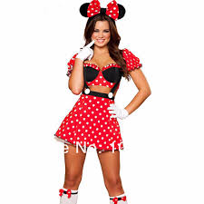 aliexpress com buy red minnie mouse cosplay costume party