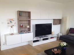 Latest Tv Cabinet Design Furniture Gray Tv Wall With Shelves Modern New 2017 Cassette