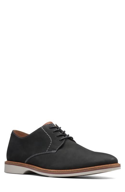Clarks Atticus Lace Black Comfort Casual Lace Up Oxfords Shoes