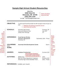 Doc            High School Student Resume Templates No Work     Examples Of Resumes With No Experience