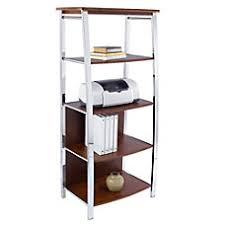 four shelf wood bookcases at office depot officemax