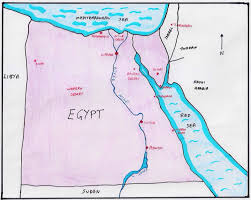 Map Egypt Egypt Nile River Connections