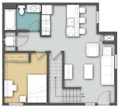 3 Bedroom Apartment Floor Plan Bison Run 3 Bedroom 2 Story Residence Life U0026 Dining Services