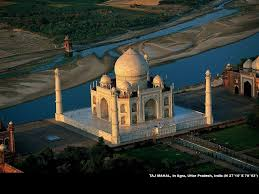 Imagen del Taj Mahal desde arriba.