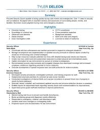 Resume Samples For Jobs In Usa by Best Security Officer Resume Example Livecareer