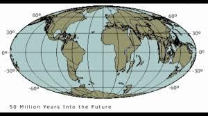 Tectonic Plate Map Future Plate Tectonics 100 Million Years Youtube