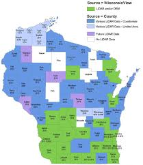 Wisconsin Map With Counties by Aerial Lidar In Wisconsin A View From The Ground Level Borders