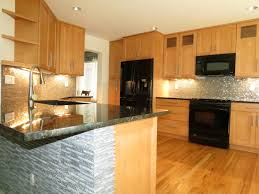 Small Kitchen Lighting Ideas Pictures Small Kitchen Design Kitchens Light Wood Cabinets Awesome Black