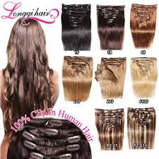 Grey Human Hair Extensions by Grey Color Clip In Hair Extension Grey Color Clip In Hair