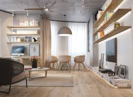 3 inspiring homes with concrete ceilings and wood floors