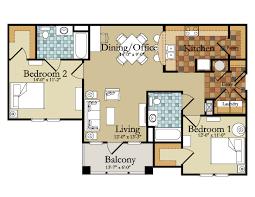 100 2 floor bed 2 bed 2 bath floor plans home planning