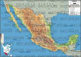 Mexico Cities Map by Geoatlas Countries Mexico Map City Illustrator Fully