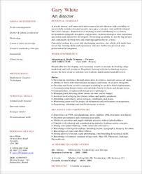 Art Director Resume samples   VisualCV resume samples database LinkedIn