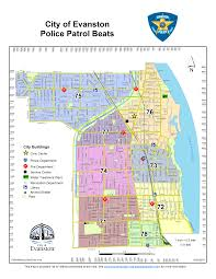 Chicago Parking Map by Maps City Of Evanston