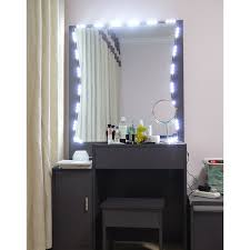 Light Up Makeup Mirror Led Lights Mirror Set 10ft Makeup Vanity W Dimmer Wireless