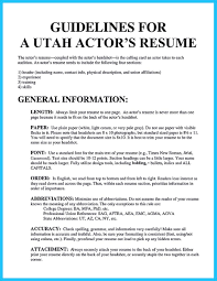 Actor Resume Commercial Resume Section Headings Resume For Your Job Application