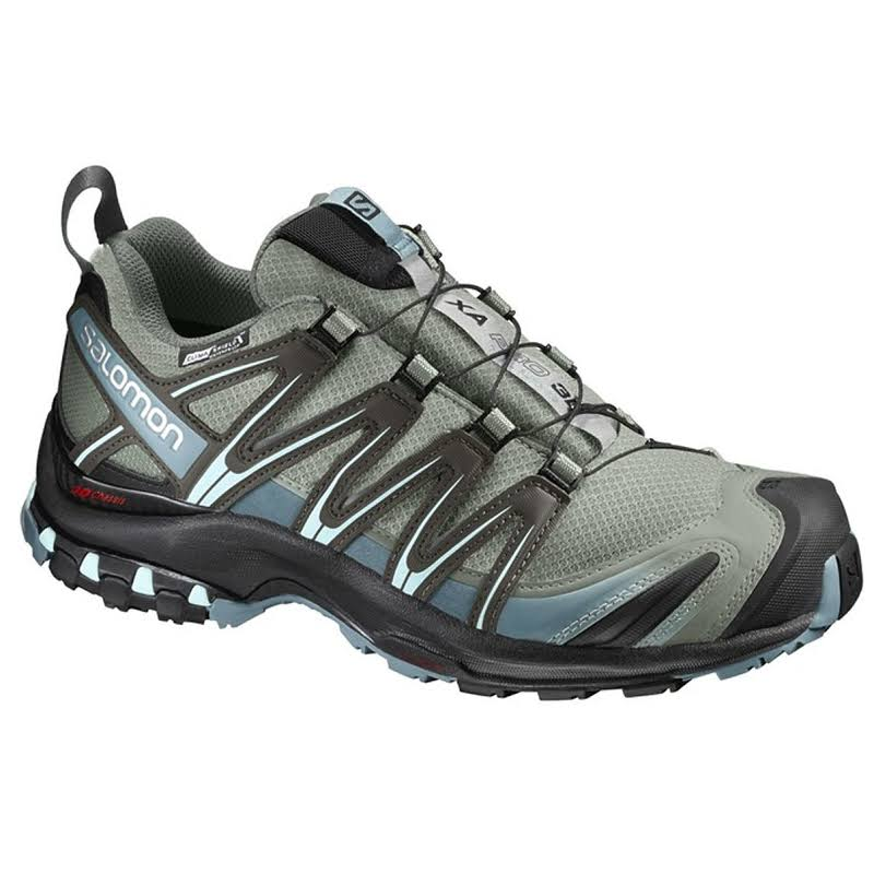 Salomon XA Pro 3D CS Waterproof Trail Running Shoe Shadow/Black/Artic 6.5 US Regular L39333500-6.5