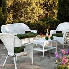 Best Time To Buy Patio Furniture by Comfort And Aesthetics White Wicker Furniture With Cushions