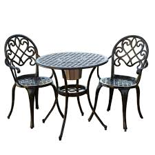 Mesh Patio Chairs by Amazon Com Best Selling Bistro Set With Ice Bucket Outdoor And