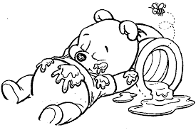 baby pooh bear coloring pages wecoloringpage