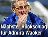 Nächster Rückschlag für Admira Wacker. Trainer Walter Knaller (Admira) - fus_bl_admira_lizenz_1k_g.2264684