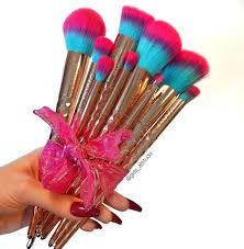 rainbow collection makeup brushes set gwa london