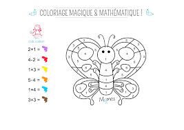 coloriage magique et mathématique le papillon momes net