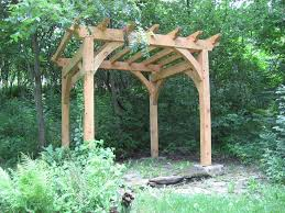 Timber Frame Pergola by Products New Heritage Woodworking