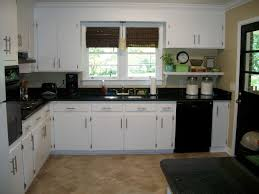 Small Kitchen With White Cabinets Kitchen Ideas Decorating With White Appliances Painted Cabinets