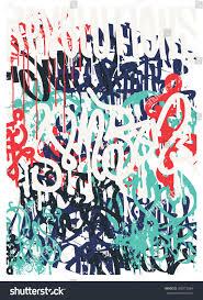 Texture Design Vector Fashion Graffiti Revolutions Hand Drawing Stock Vector
