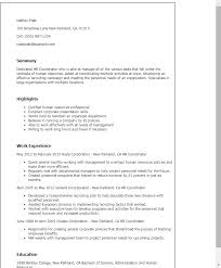Human Resources Resume Samples by Professional Hr Coordinator Templates To Showcase Your Talent
