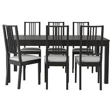 bjursta bOrje table and 6 chairs brown black gobo white bjursta bOrje table and 6 chairs brown black gobo white