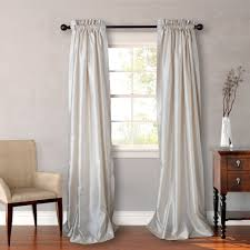 landing solid lined window curtain pair
