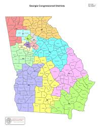 Map Of Virginia Counties And Cities by Map Georgia U0027s Congressional Districts