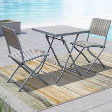 Best Time To Buy Patio Furniture by Gallant Contemporary 3 Piece Folding Bistro Set Sun Bleached