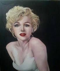 "Sarah Jane Palmer. Marilyn Oil on canvas 23"" x 20"" - marilyn"