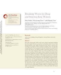 breaking waves in deep and intermediate waters pdf download